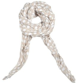 Lillywhite Cotton Beige Dot Scarf