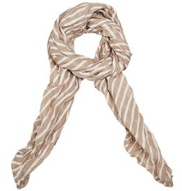 Lillywhite Cotton Khaki Stripe Scarf