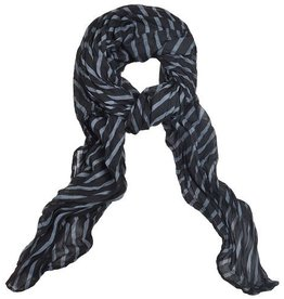 Lillywhite Cotton Black Stripe Scarf