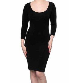 Bamboo Dress 3/4 Sleeve- NAVY