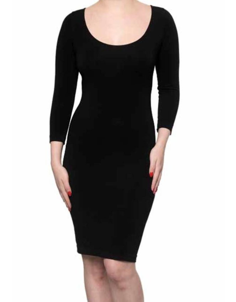 C'est Moi- Bamboo Dress 3/4 Sleeve Navy