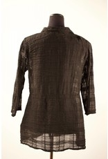 Cut Loose- Shaped 3/4 Slv Shirt- Blk