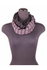 Lousje & Bean L&B- FW17 Infinity Scarf- Purple stripe