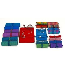 Talis- Silk jewellery roll lg