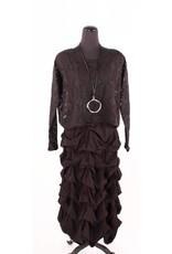 Boris Boris- Puckered Dress in Black