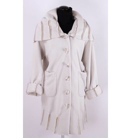Boris Boris- Exposed Seam Coat in Ivory