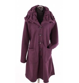 Boris Boris- Puckered Collar Coat in Purple