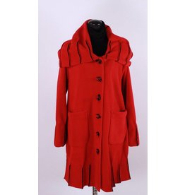 Boris Boris- Exposed Seam Coat in Red