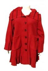 Boris Boris- Exposed Seam Coat in Red
