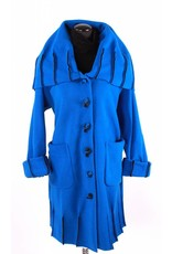 Boris Boris- Exposed Seam Coat in Blue