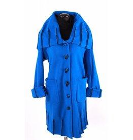 Boris Boris- Exposed Seam Coat in Blue