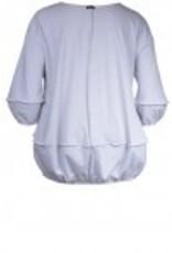 Boris Boris- Stitched Sweater in White