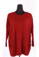 Orange- Cashmere like sweater