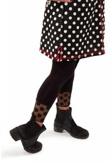 Lousje & Bean L&B Dot Mesh Leggings in Blk
