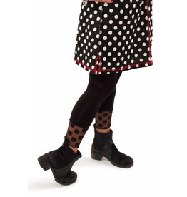 Lousje & Bean Dot Mesh Leggings in Blk