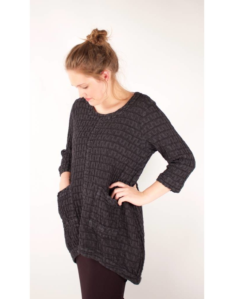 GRIZAS- Check Tunic in charcoal