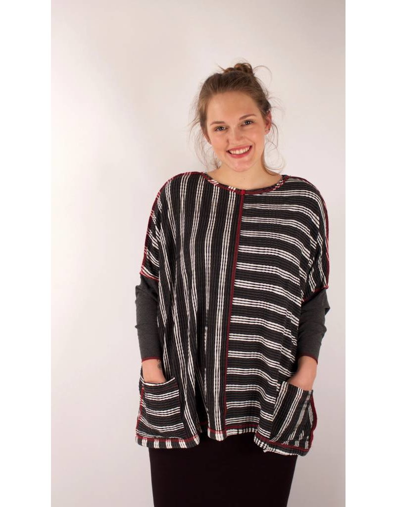 Lousje & Bean L&B- Jack Sweater Grey Stripes