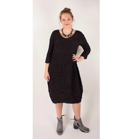 Grizas GRIZAS- Silk Dress 9882 in Charcoal