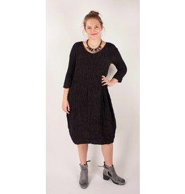 GRIZAS- Silk Dress 9882 in Charcoal