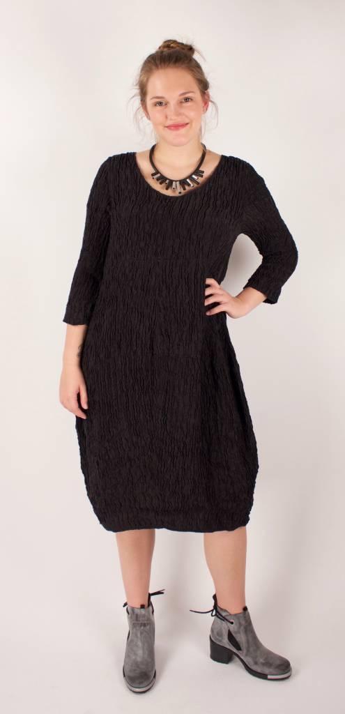 Grizas GRIZAS- Silk Dress 9882 in Charcoal
