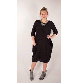 GRIZAS- Silk Dress 51123 in Blk