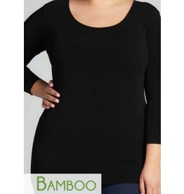 C'est Moi Bamboo 3/4 sleeve Scoop -PLUS SIZE