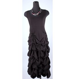 Boris Boris- Puckered Dress in Black
