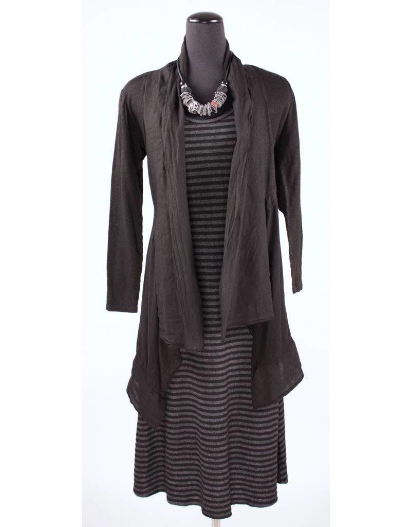 Cut Loose Cut Loose- Tank Dress Stripe|Blk