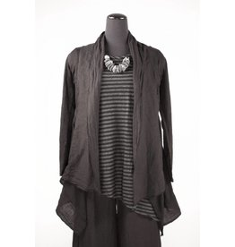 Cut Loose Cut Loose- Knit/Linen Jacket|Blk
