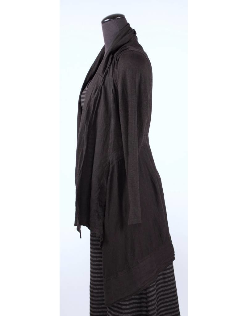 Cut Loose Cut Loose- Knit/Linen Jacket Blk