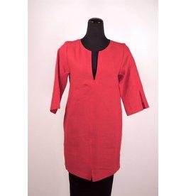 Lousje & Bean L&B- Cross Linen Tunic|Red