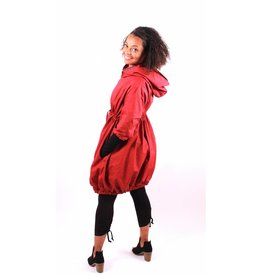 Lousje & Bean Bubble Coat|Red