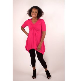 Lousje & Bean L&B- Tunnel Tunic in Fuschia