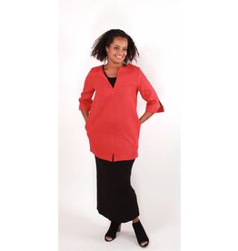 Lousje & Bean L&B- Cross Linen Tunic|Red