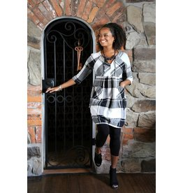 Lousje & Bean L&B- Harlem Dress in Check- XS & M only