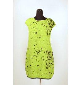 Grizas GRIZAS- Linen Splatter Tunic Chartreuse