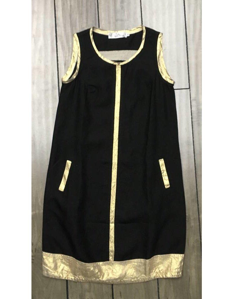 Nahlik- Black & Gold Dress