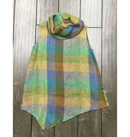 Eco Linen- Check Top- SIZE S only