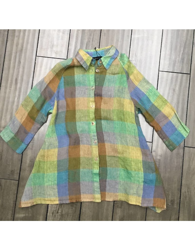 Eco Linen- Check Shirt