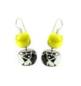 Zsiska Zsiska- Abstract Yellow 2 Earrings