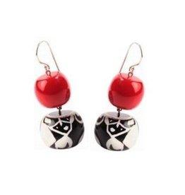 Zsiska Zsiska- Abstract Red Earrings