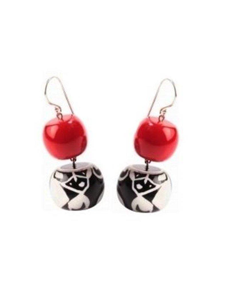 Zsiska Zsiska- Abstract Red 2 Earrings
