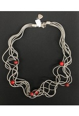 Sandrine Giraud Sandrine Giraud- Small Red Ball Necklace