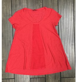 Cut Loose Cut Loose- Linen Tee|Red