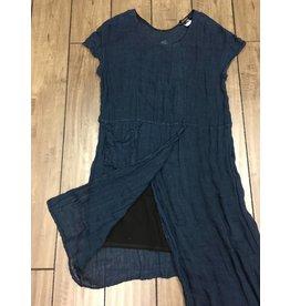 Kedziorek- Linen Dress | Blue