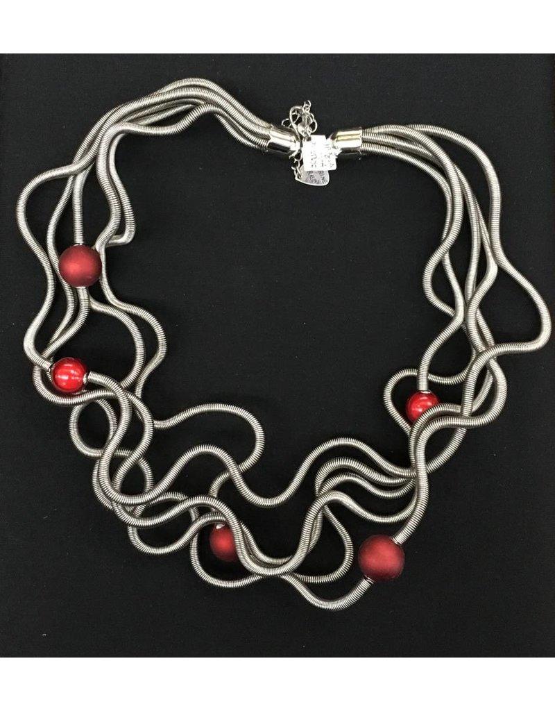 Sandrine Giraud Sandrine Giraud- Small Red Ball Necklace