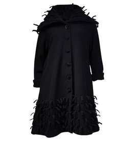 Boris BORIS- Fringe Coat in Blk