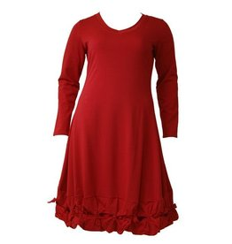 Boris BORIS- Knot Dress in Red