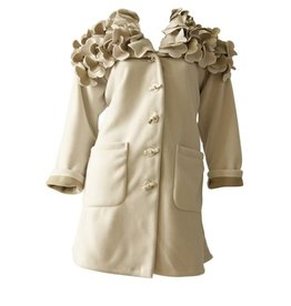 Boris BORIS- Flower Coat in Ivory