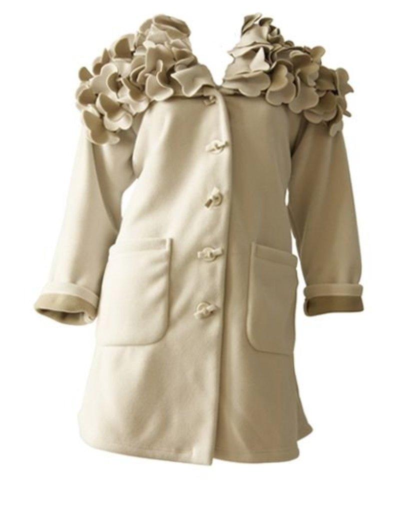 Boris BORIS- Flower Coat in Ivory